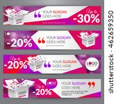 sale event. set with banners... | Shutterstock .eps vector #462659350