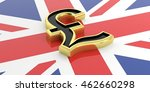 3d Rendering Golden British...