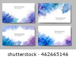 set of watercolor banners with... | Shutterstock . vector #462665146
