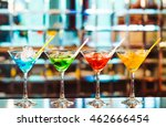 multicolored cocktails at the... | Shutterstock . vector #462666454