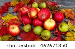 Fresh Red Organic Apples And...