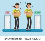 dismissed woman. fired from job.... | Shutterstock .eps vector #462673270
