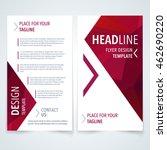 vector modern flyer  poster or... | Shutterstock .eps vector #462690220