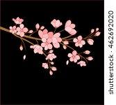 festive illustrations. branch... | Shutterstock .eps vector #462692020