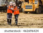 two people working | Shutterstock . vector #462696424