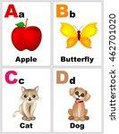 alphabet printable flashcards... | Shutterstock .eps vector #462701020