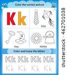 alphabet learning letters  ... | Shutterstock .eps vector #462701038