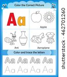 alphabet learning letters  ... | Shutterstock .eps vector #462701260