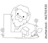animal alphabet coloring book... | Shutterstock .eps vector #462701920