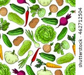 seamless pattern of .vegetables ... | Shutterstock .eps vector #462712504