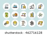 industry and factory icons set | Shutterstock .eps vector #462716128
