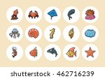 ocean and marine icons set | Shutterstock .eps vector #462716239