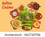 indian cuisine original dishes...   Shutterstock .eps vector #462720706