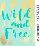 summer hand drawn calligraphic... | Shutterstock .eps vector #462737158