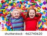 happy preschool age children... | Shutterstock . vector #462740620
