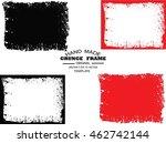 set of grunge frame   abstract... | Shutterstock .eps vector #462742144