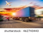truck transport container on...   Shutterstock . vector #462743443