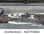 Willamette Falls Along Willamette River between Oregon City and West Linn Closeup