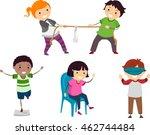 stickman illustration of... | Shutterstock .eps vector #462744484