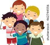 stickman illustration of... | Shutterstock .eps vector #462744556