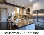 modern  bright  clean  kitchen... | Shutterstock . vector #462745054