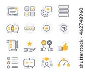 business feedback icons | Shutterstock .eps vector #462748960