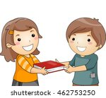 illustration of a little girl... | Shutterstock .eps vector #462753250