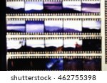 Small photo of Blurred of film contact print used for background