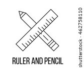 ruler and pencil icon or logo... | Shutterstock .eps vector #462758110