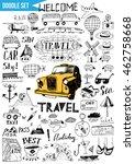 doodles set   travel | Shutterstock .eps vector #462758668
