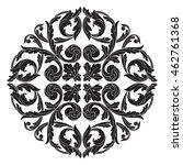 vintage baroque mandala... | Shutterstock .eps vector #462761368