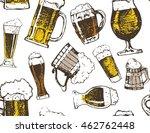 october fest. vector beer... | Shutterstock .eps vector #462762448