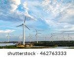 pylon in substation blue sky...   Shutterstock . vector #462763333