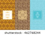 vector set of design elements... | Shutterstock .eps vector #462768244