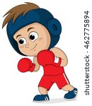 kid boxing.vector and...   Shutterstock .eps vector #462775894