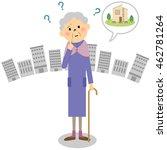the senior citizen lady who... | Shutterstock .eps vector #462781264