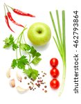 a food and healthy lifestyle... | Shutterstock . vector #462793864