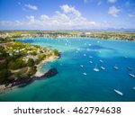 mauritius beach aerial view of... | Shutterstock . vector #462794638