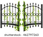 Fence Design With Vine And...