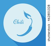chili. vector   chili pepper... | Shutterstock .eps vector #462801328