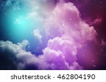 space of night sky with cloud... | Shutterstock . vector #462804190