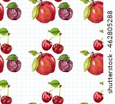 seamless watercolor pattern... | Shutterstock . vector #462805288