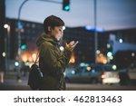 half length of young handsome... | Shutterstock . vector #462813463