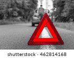 unhappy driver and broken car...   Shutterstock . vector #462814168