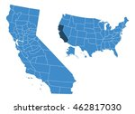 map of california | Shutterstock .eps vector #462817030