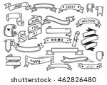 set of banner doodle isolated... | Shutterstock .eps vector #462826480