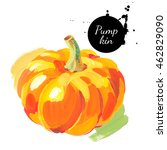 pumpkin. hand drawn sketch... | Shutterstock . vector #462829090