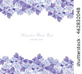 spring summer lilac floral...   Shutterstock .eps vector #462832048