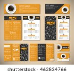 set of black and yellow...   Shutterstock .eps vector #462834766