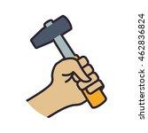 hammer tool repair construction ... | Shutterstock .eps vector #462836824
